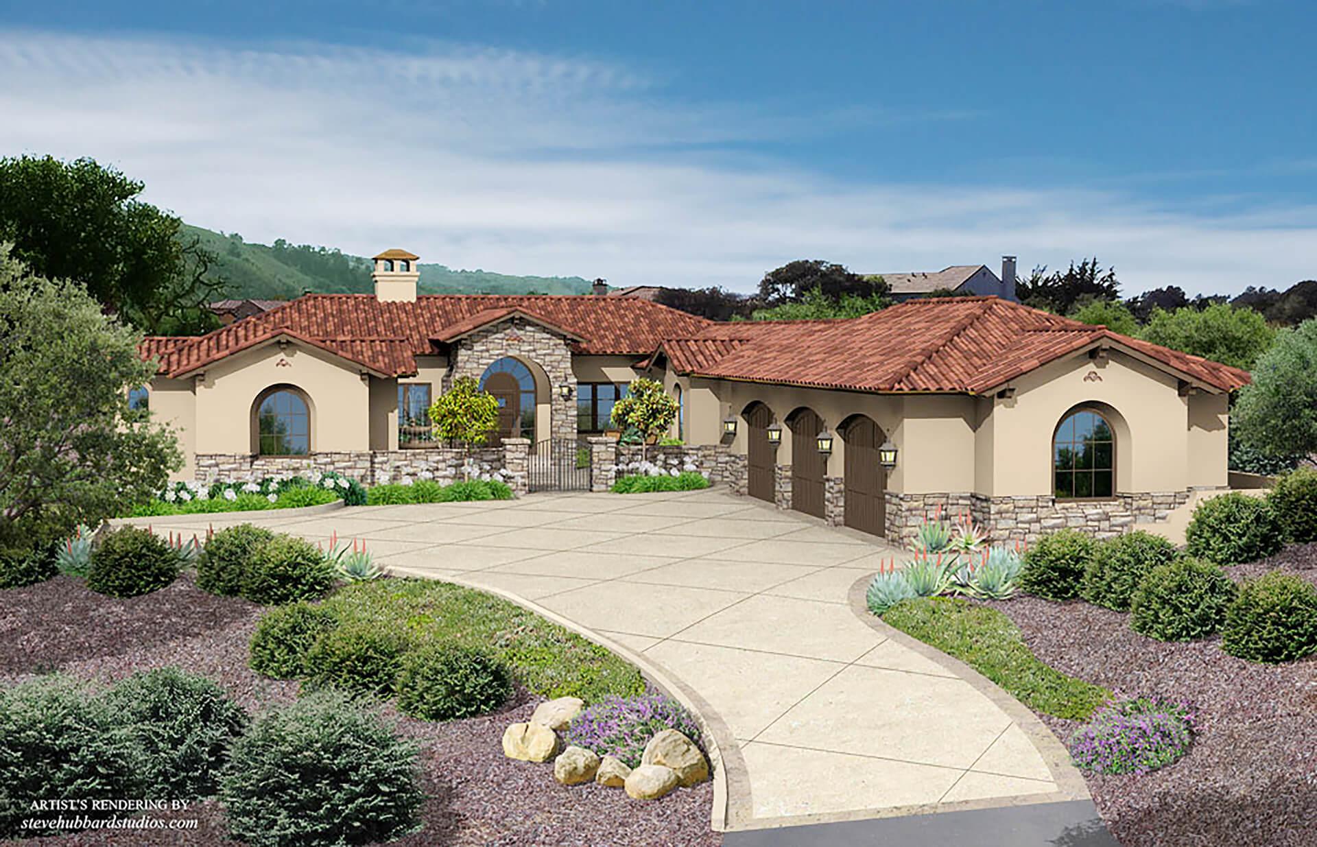 Pasadera, Monterey CA - Front View